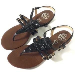 "Jeffrey Campbell Ibiza ""Johnny Ex"" Snake Sandals"